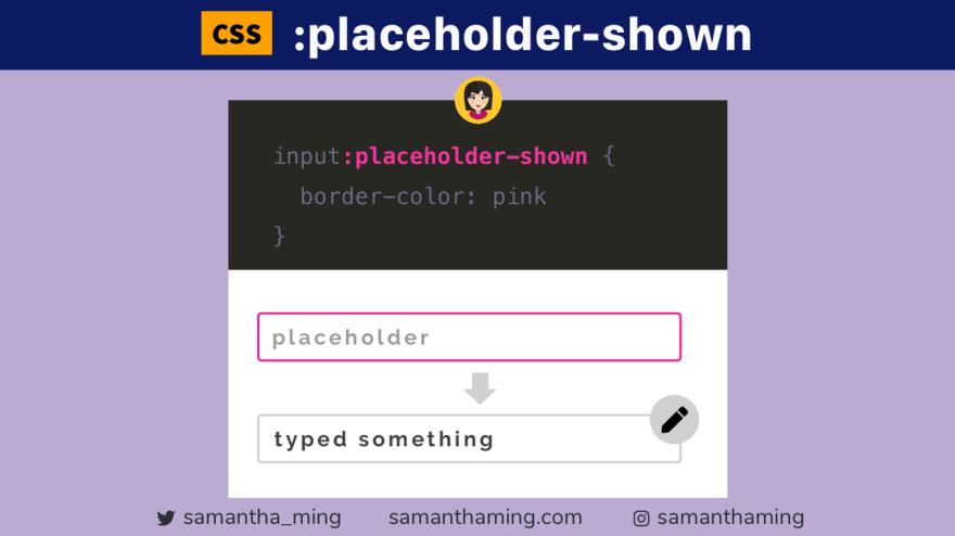 CSS :placeholder-shown 是什么?